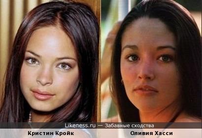 Актрисы Кристин Кройк и Оливия Хасси