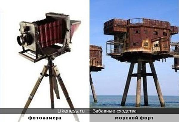 Фотокамера и морской форт