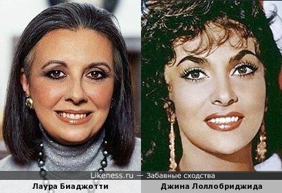 Лаура Биаджотти и Джина Лоллобриджида