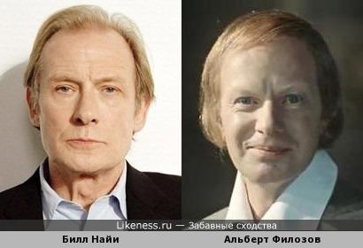 Билл Найи и Альберт Филозов