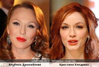 Альбина Джанабаева и Кристина Хендрикс