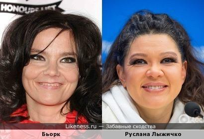 Бьорк и Руслана Лыжичко