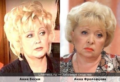 Анне Вески и Анна Фроловцева