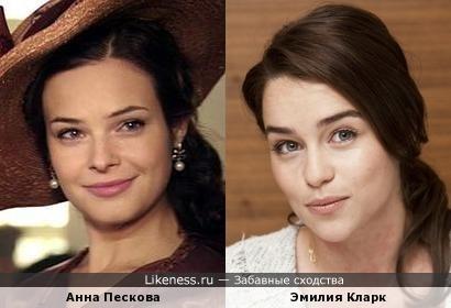 Анна Пескова и Эмилия Кларк