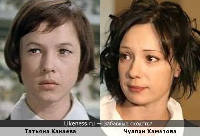 Актрисы Татьяна Канаева и Чулпан Хаматова