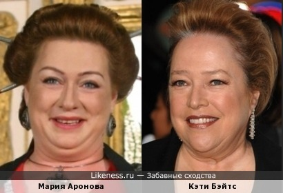 Актрисы Мария Аронова и Кэти Бэйтс