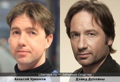 Алексей Урманов и Дэвид Духовны