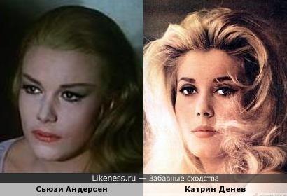Актрисы Сьюзи Андерсен и Катрин Денев