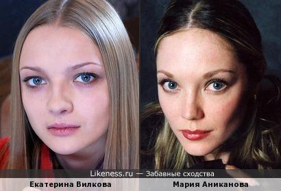 Актрисы Екатерина Вилкова и Мария Аниканова