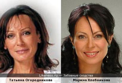 Татьяна Огородникова и Марина Хлебникова