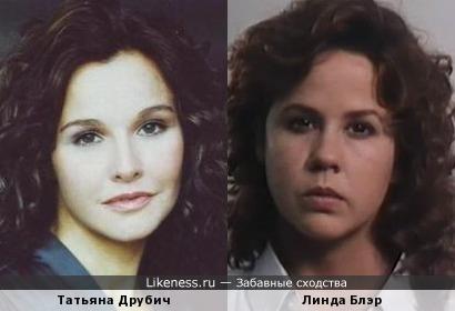 Татьяна Друбич и Линда Блэр