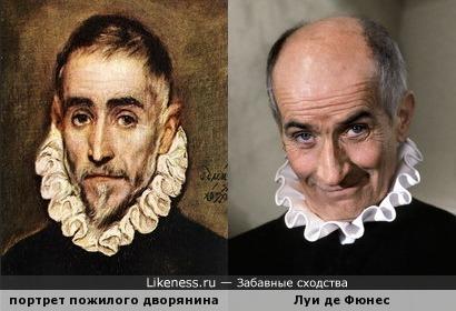 Портрет пожилого дворянина напомнил Луи де Фюнеса