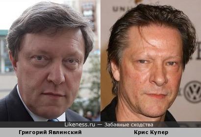 Григорий Явлинский и Крис Купер