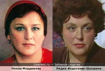 Актрисы Нонна Мордюкова и Лидия Федосеева-Шукшина