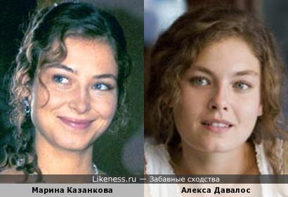 Марина Казанкова и Алекса Давалос