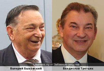 Валерий Быковский и Владислав Третьяк
