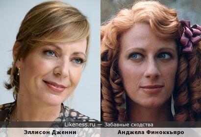 Актрисы Эллисон Дженни и Анджела Финоккьяро