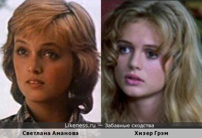 Актрисы Светлана Аманова и Хизер Грэм