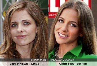 Сара Мишель Геллар и Юлия Барановская