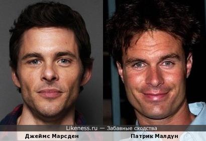Актёры Джеймс Марсден и Патрик Малдун