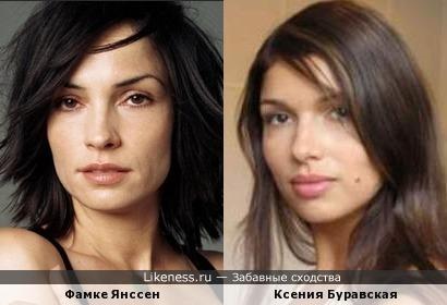 Фамке Янссен и Ксения Буравская