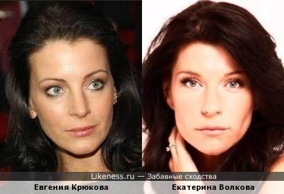 Актрисы Евгения Крюкова и Екатерина Волкова