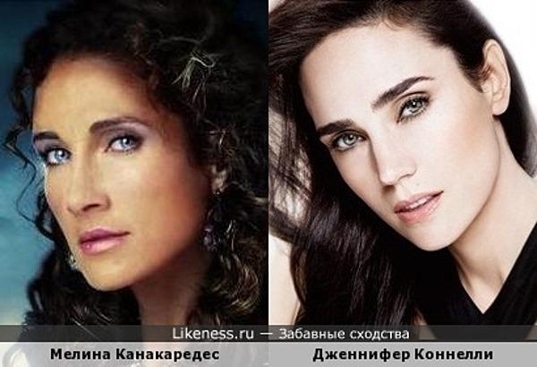 Мелина Канакаредес и Дженнифер Коннелли
