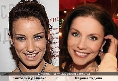 Виктория Дайнеко и Марина Зудина