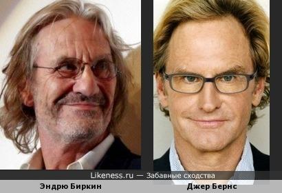 Эндрю Биркин и Джер Бернс