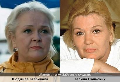 Людмила Гаврилова и Галина Польских