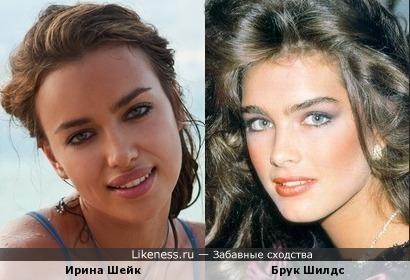 Ирина Шейк и Брук Шилдс