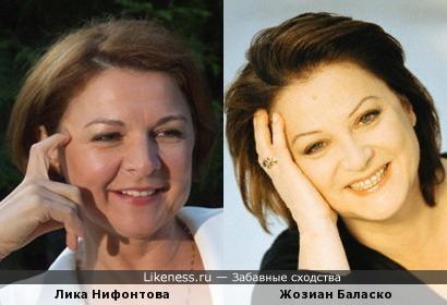 Актрисы Лика Нифонтова и Жозиан Баласко
