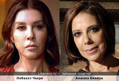 Актрисы Небахат Чехре и Анжела Виейра