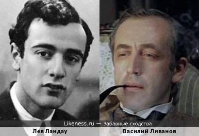 Лев Ландау и Василий Ливанов
