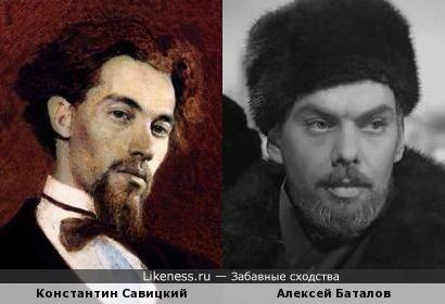 Портрет художника Савицкого и актёр Баталов