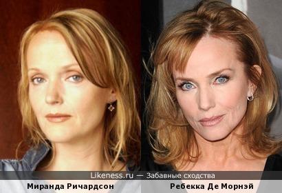 Миранда Ричардсон и Ребекка Де Морнэй