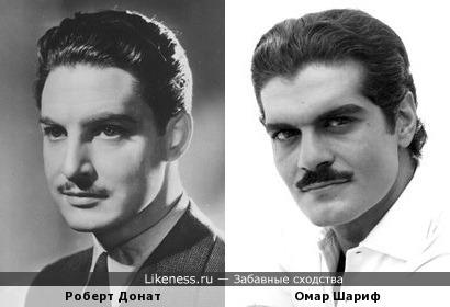 Роберт Донат и Омар Шариф