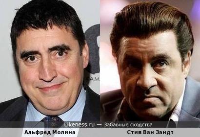 Альфред Молина и Стив Ван Зандт