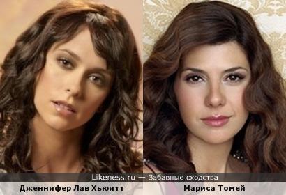 Дженнифер Лав Хьюитт и Мариса Томей