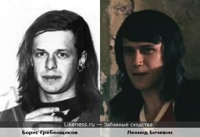 Борис Гребенщиков и Леонид Бичевин