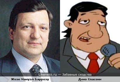 Глава Еврокомиссии и персонаж мультфильма