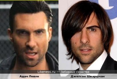 "Адам Левин из ""Maroon 5"" и Джейсон Шварцман из фильма ""Скотт Пилигрим"""