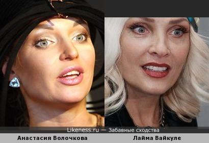 Анастасия Волочкова похожа на Лайму Вайкуле