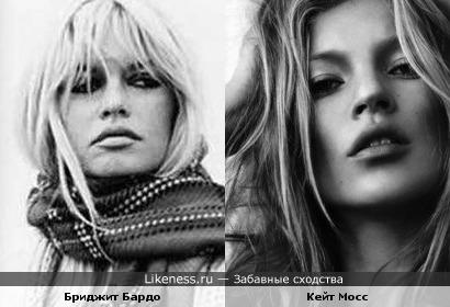 Кейт Мосс напоминает Бриджит Бардо