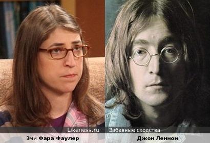 Эми Фара Фаулер в исполнении Майем Биэлик похожа на Джона Леннона