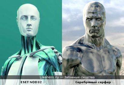 Персонаж ESET NOD32 напоминает Серебряного Серфера