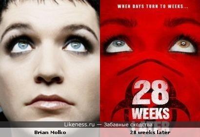 """Брайан Молко похож на человека с обложки фильма """"28 недель спустя"""""""