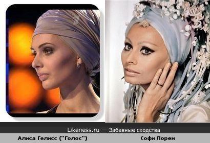 """Алиса Гелисс из шоу """"Голос"""" похожа на Софи Лорен"""