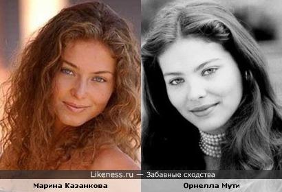 Марина Казанкова похожа на Орнеллу Мути