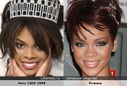 Мисс США 2008 похожа на Рианну